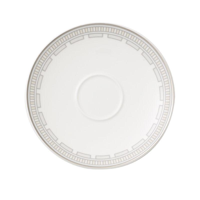 Villeroy & Boch - La Classica Contura - spodek do filiżanki do kawy lub herbaty - średnia: 15 cm