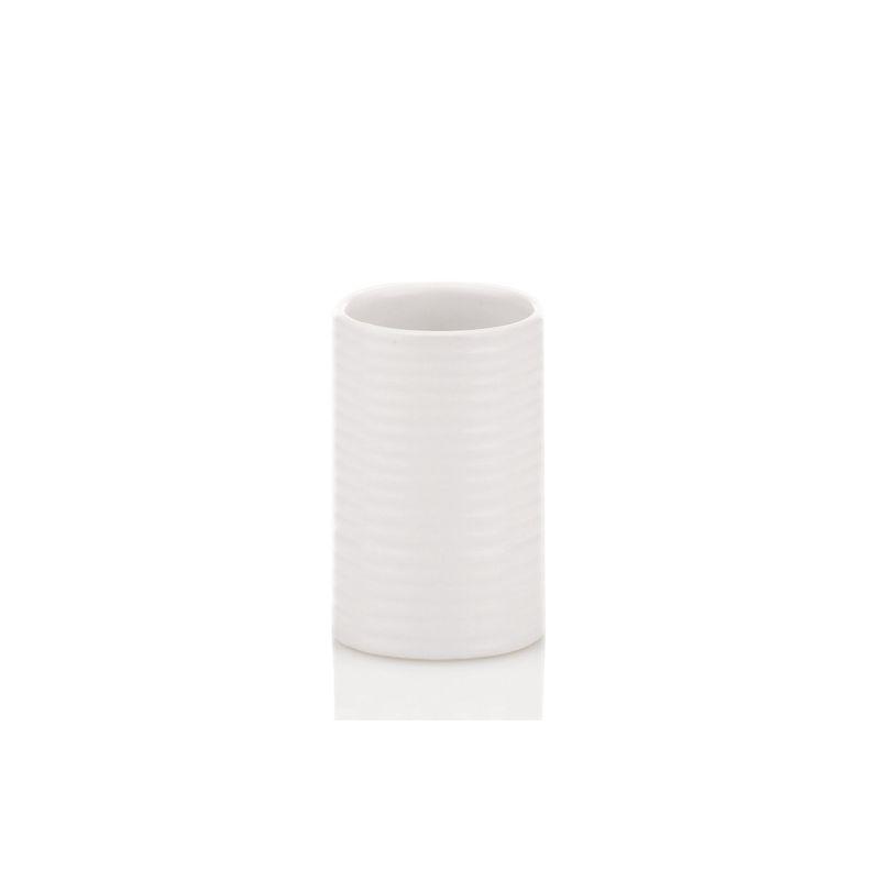Kela - Groove - kubek łazienkowy - wysokość: 11 cm