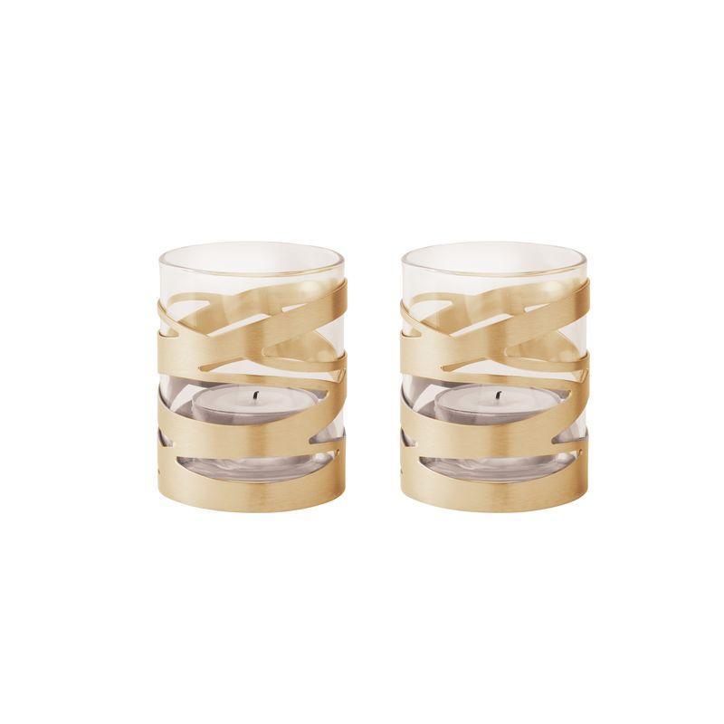 Stelton - Tangle - 2 lampiony na tealight - średnica: 6 cm
