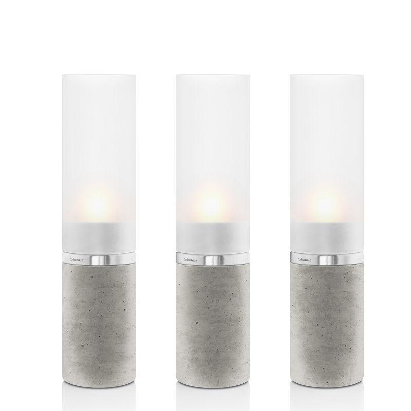 Blomus - Faro - zestaw 3 świeczników na tealight - wysokość: 21 cm