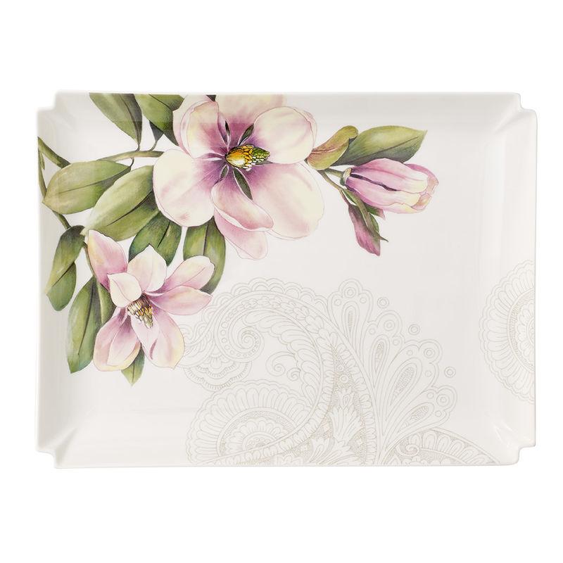 Villeroy & Boch - Quinsai Garden Gifts - prostokątny talerzyk - wymiary: 28 x 21 cm
