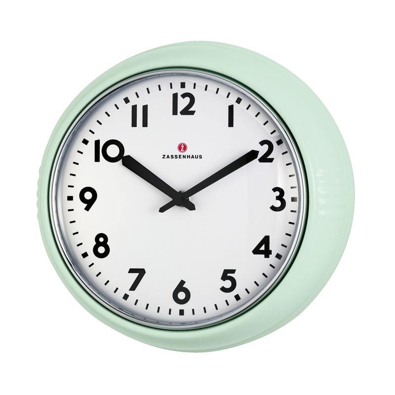 Zassenhaus - Retro Pastell - zegar ścienny - średnica: 24 cm
