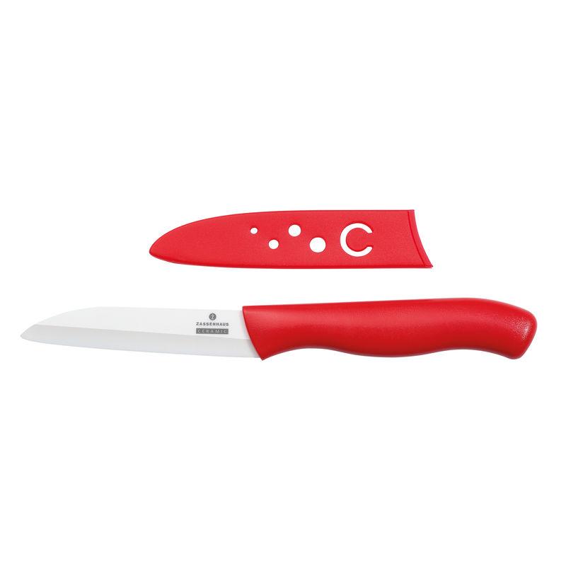 Zassenhaus - CeraPlus - ceramiczny nóż do warzyw i owoców - długość ostrza: 8 cm