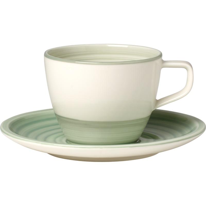 Villeroy & Boch - Artesano Nature Vert - filiżanka do kawy ze spodkiem - pojemność: 0,25 l