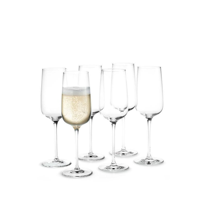 Holmegaard - Bouquet - 6 kieliszków do szampana - pojemność: 0,29 l