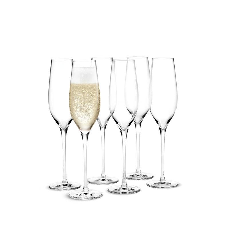 Holmegaard - Cabernet - 6 kieliszków do szampana - pojemność: 0,29 l
