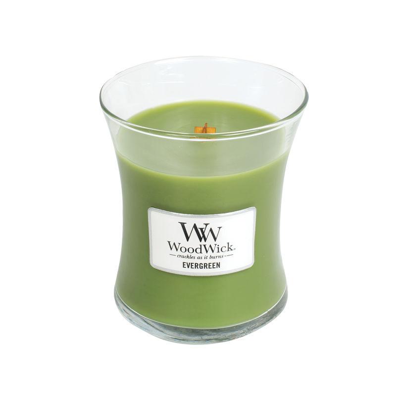 WoodWick - Evergreen - świeca zapachowa - gałęzie jodły - czas palenia: do 100 godzin