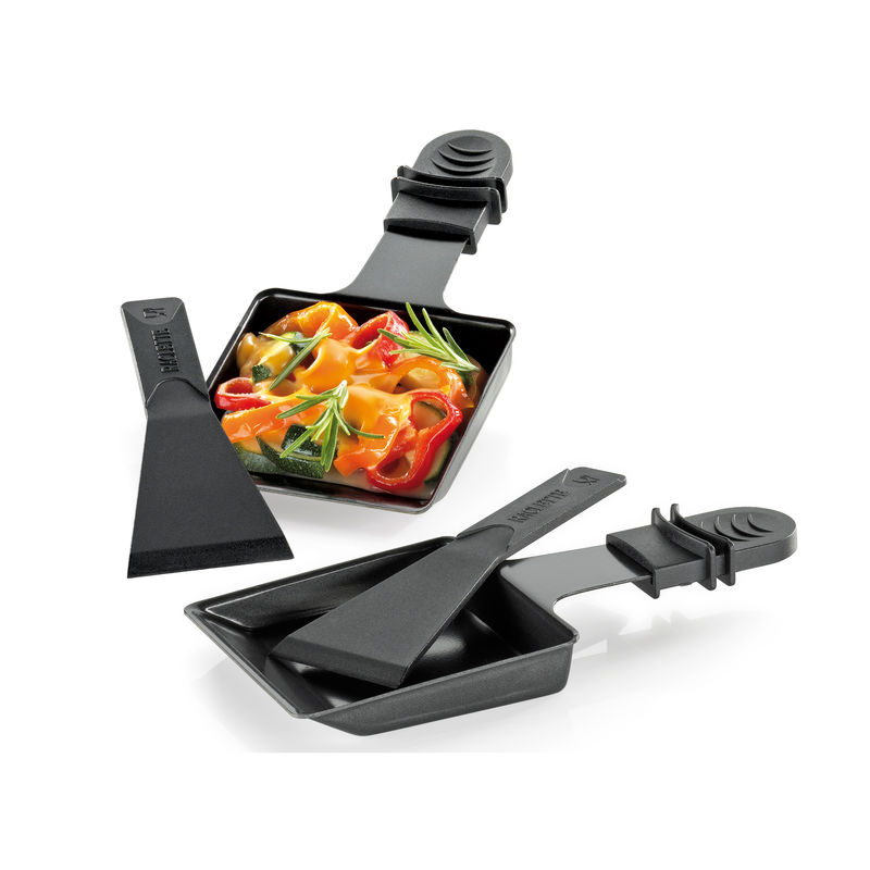 Küchenprofi - VISTA8 - 2 małe patelnie do raclette - w komplecie z łopatkami