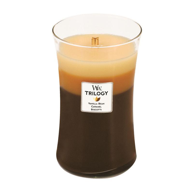 WoodWick - Cafe Sweets - potrójna świeca zapachowa - słodka przerwa - czas palenia: do 175 godzin