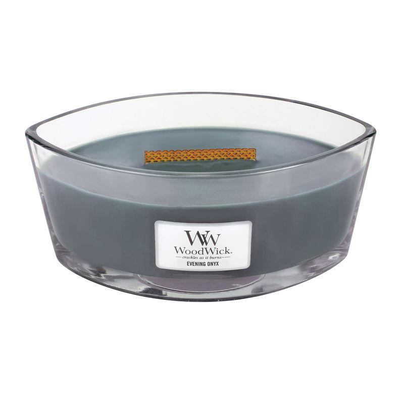 WoodWick - Evening Onyx - świeca zapachowa - wieczorna orchidea - czas palenia: do 60 godzin