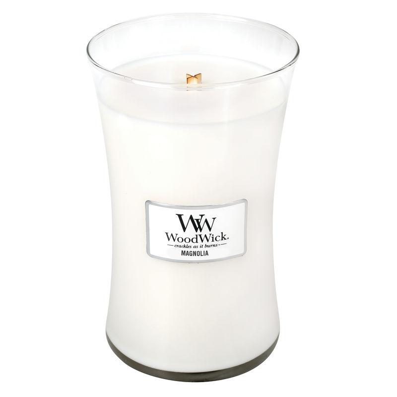 WoodWick - Magnolia - świeca zapachowa - kwiaty magnolii - czas palenia: do 175 godzin