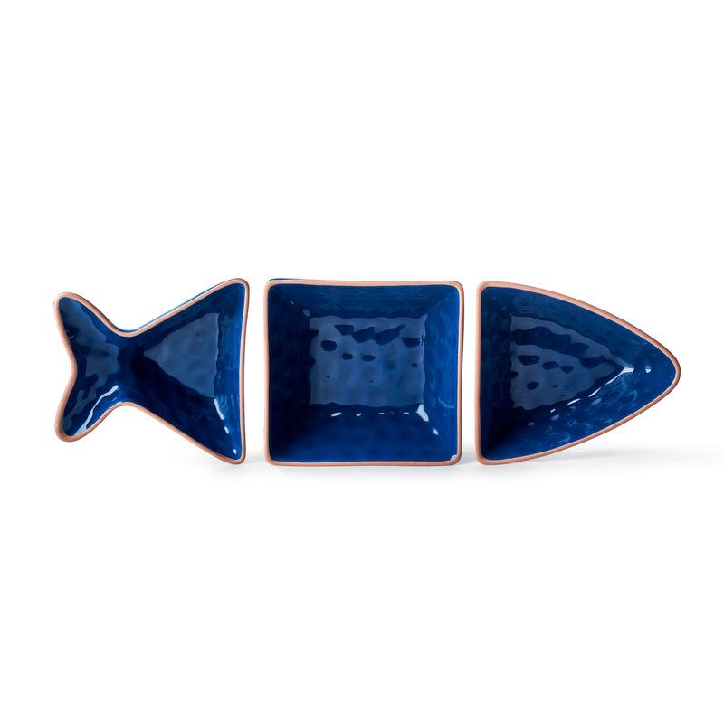 Sagaform - Seafood - 3 miseczki na przekąski - ryba - wymiary: 30 x 10 x 4 cm
