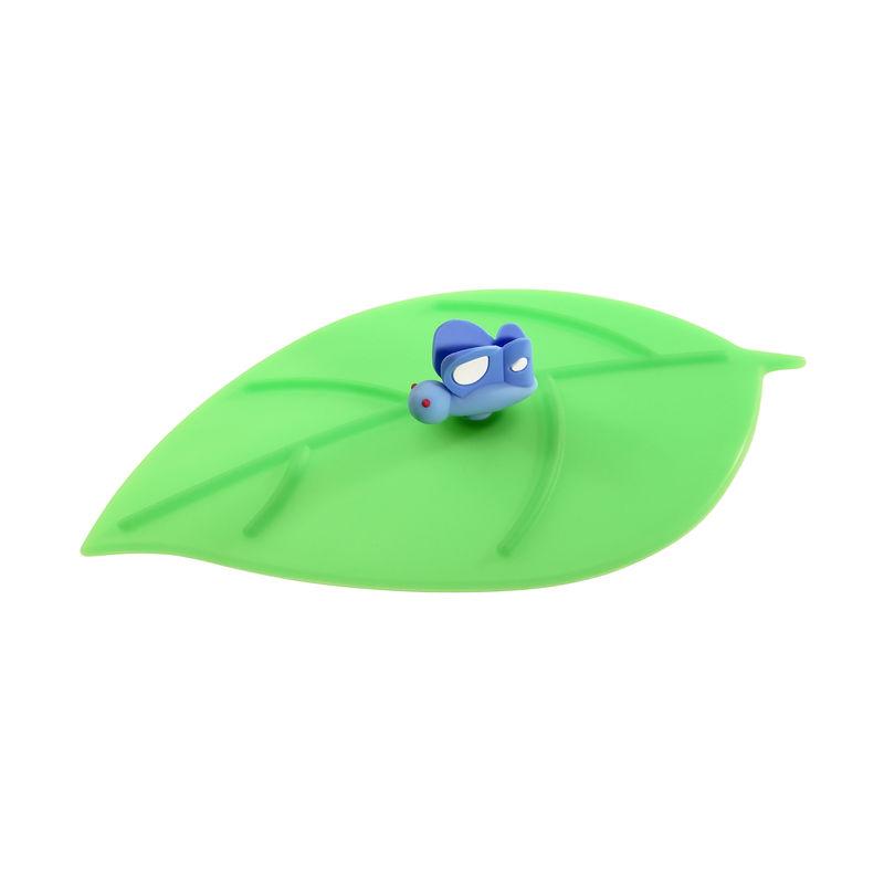Lurch - My Lid - pokrywka silikonowa liść z motylem - wymiary: 10,5 x 12,5 cm