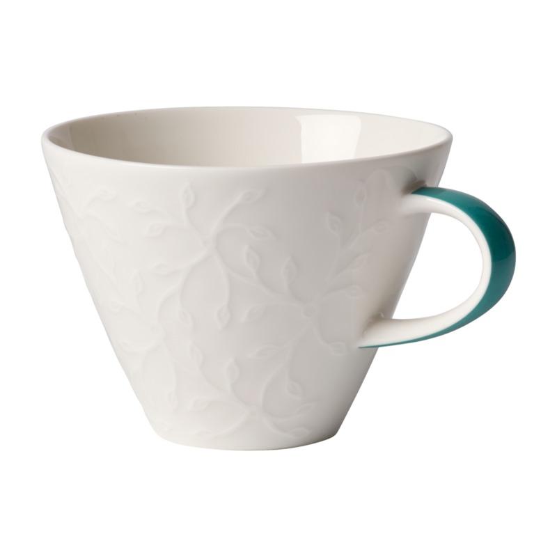 Villeroy & Boch - Caffé Club Floral Touch of Ivy - filiżanka do białej kawy - pojemność: 0,39 l