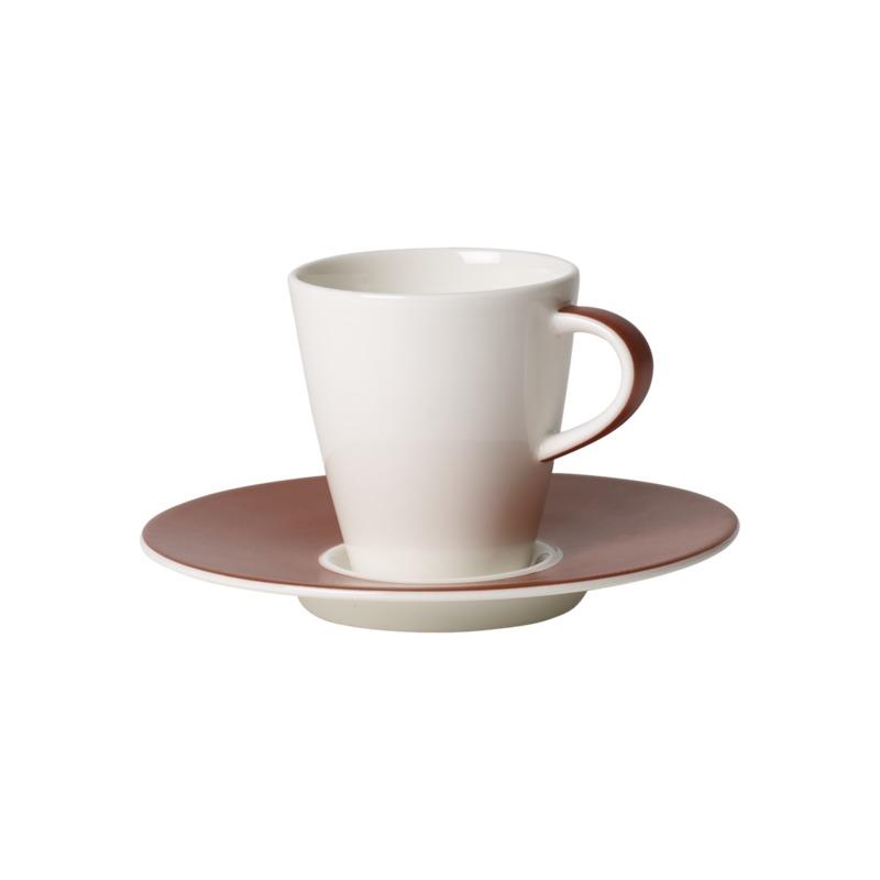 Villeroy & Boch - Caffé Club Uni Oak - filiżanka do espresso ze spodkiem - pojemność: 0,1 l