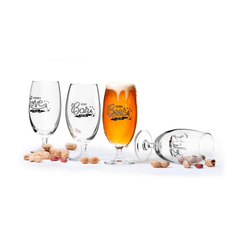 Sagaform - Club - zestaw 4 kieliszków do piwa - pojemność: 0,42 l; pudełko prezentowe
