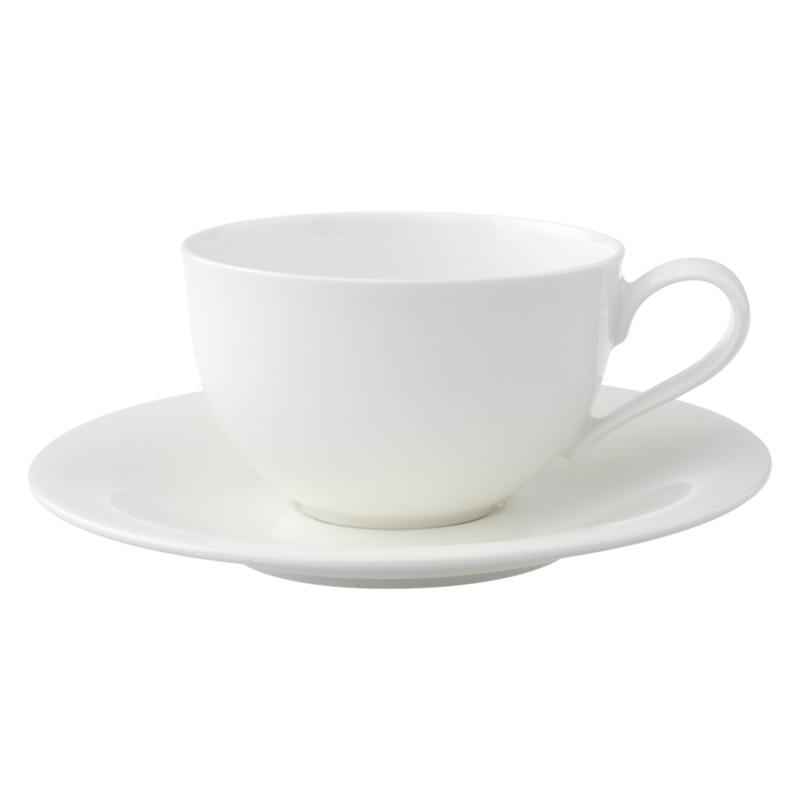 Villeroy & Boch - New Cottage Basic - filiżanka śniadaniowa ze spodkiem - pojemność: 0,43 l