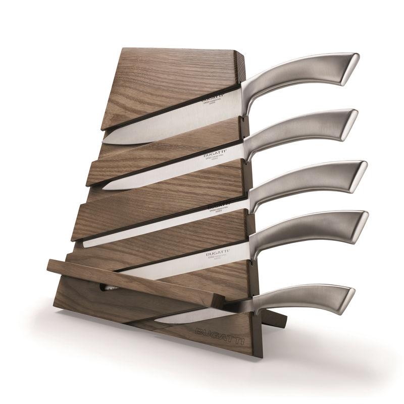 Bugatti - Trattoria - zestaw noży w bloku - 6 elementów