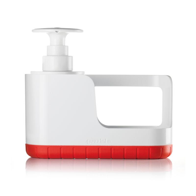Guzzini - TIDY & CLEAN - pojemnik na akcesoria do zmywania z dozownikiem - wymiary: 24 x 8,5 x 19 cm
