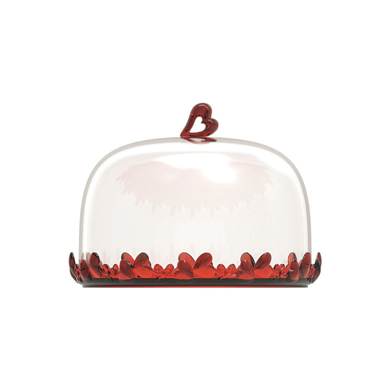 Guzzini - Love - talerz na ciasto z pokrywą - średnica: 18,5 cm