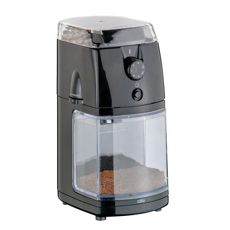 Cilio - Robusta - elektryczny młynek do kawy - wymiary: 15,5 x 10,5 x 22,5 cm