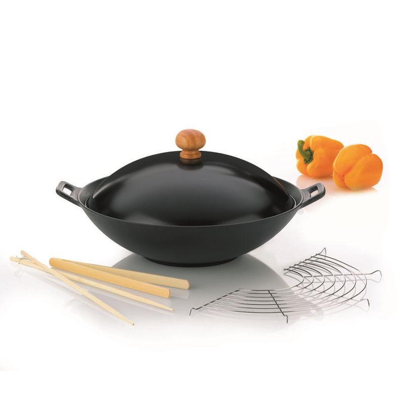 Kela - Classic - żeliwny wok z wyposażeniem - 5 elementów