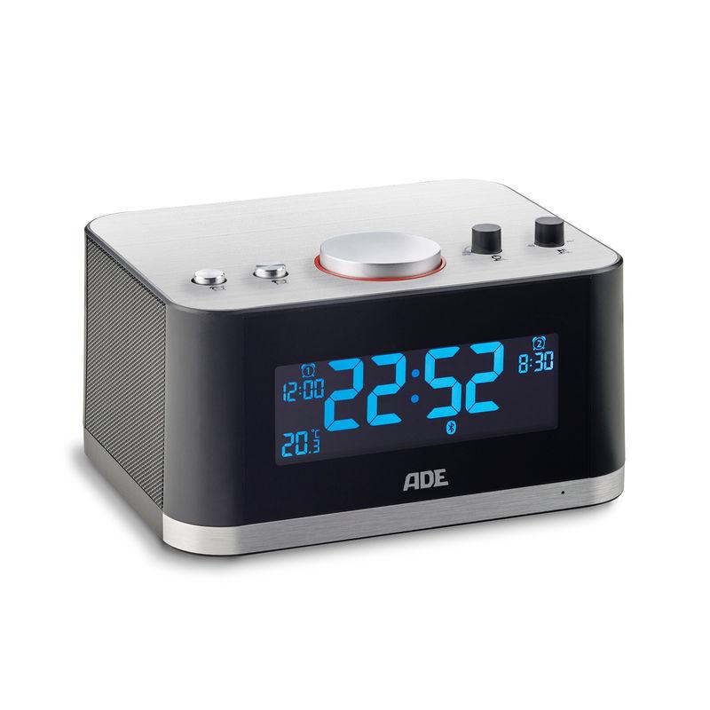 ADE - radiobudzik z głośnikiem Bluetooth - wymiary: 16 x 12,5 x 12 cm