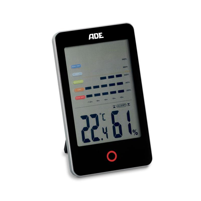 ADE - higrometr pokojowy - wymiary: 8 x 2 x 13,5 cm