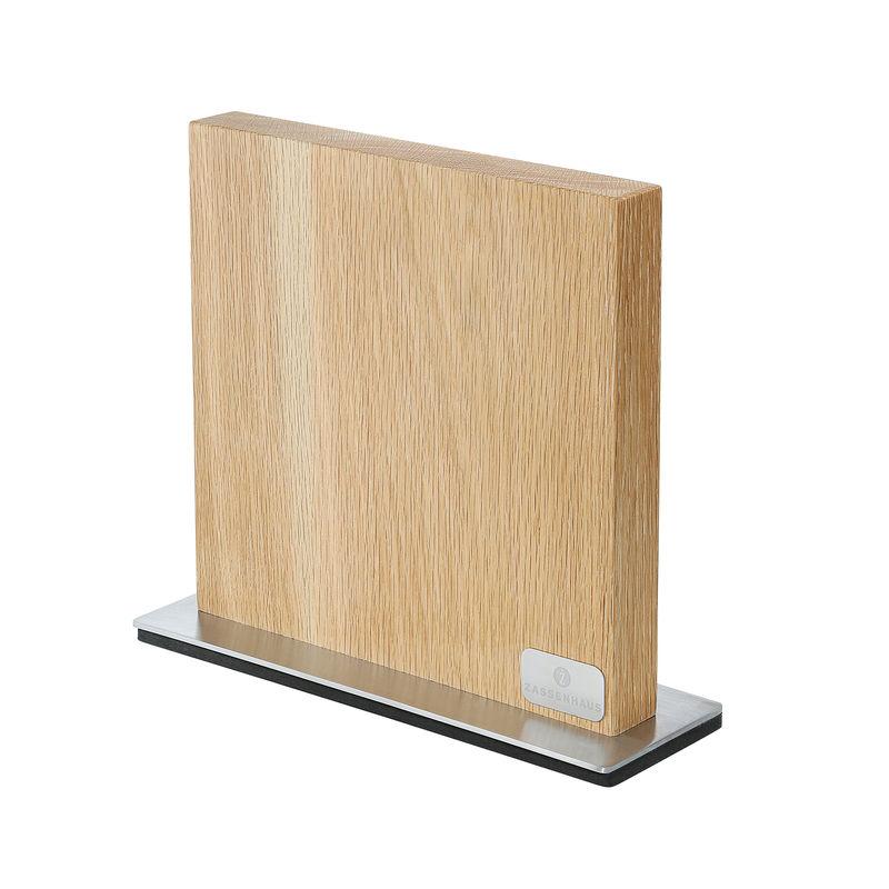 Zassenhaus - Dąb - magnetyczny blok na noże - wymiary: 28 x 9 x 25 cm