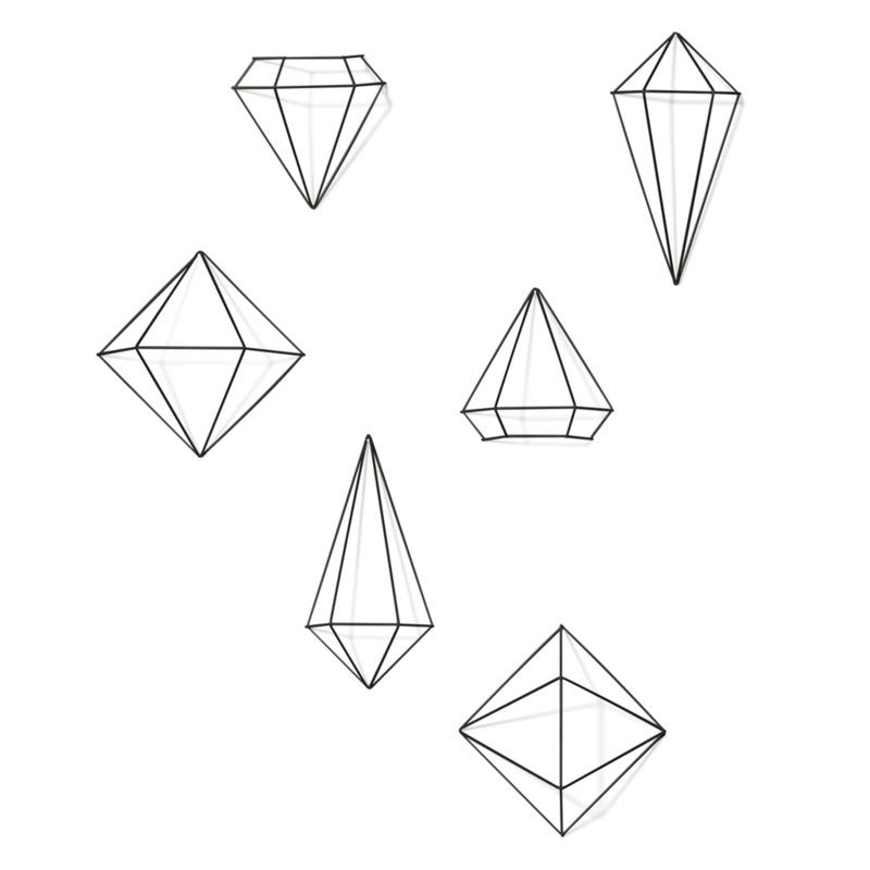 Umbra - Prisma - dekoracja ścienna - klejnoty - 6 elementów