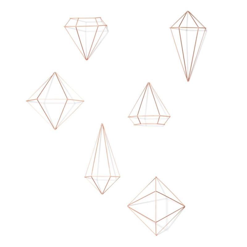 Umbra - Prisma - dekoracje ścienne - klejnoty - 6 elementów
