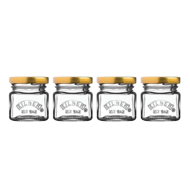 Kilner - Mini Jars - 4 słoiczki - pojemność: 0,055 l