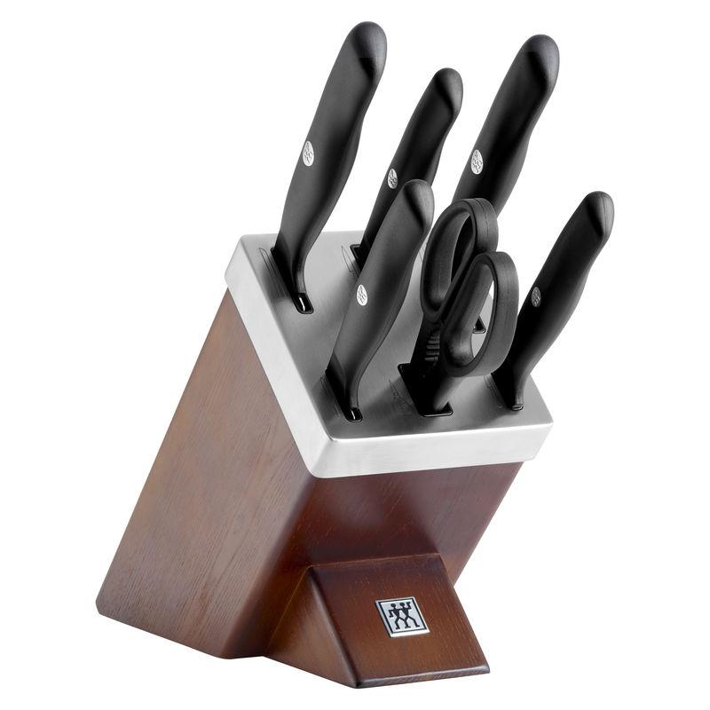Zwilling - ZWILLING Life - zestaw noży w bloku ostrzącym - 5 noży i nożyce