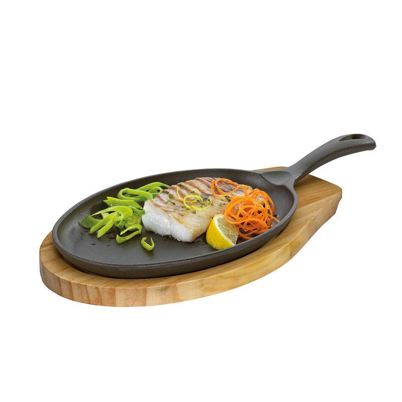 Küchenprofi - żeliwna patelnia do serwowania - wymiary: 39 x 20 x 5 cm