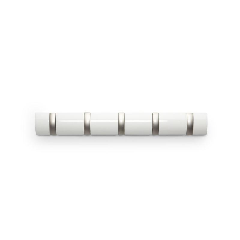 Umbra - Flip 5 - wieszak ścienny z wysuwanymi uchwytami - 5 uchwytów