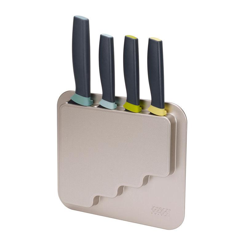 Joseph Joseph - DoorStore - zawieszany blok z 4 nożami - do mocowania na drzwiach szafki