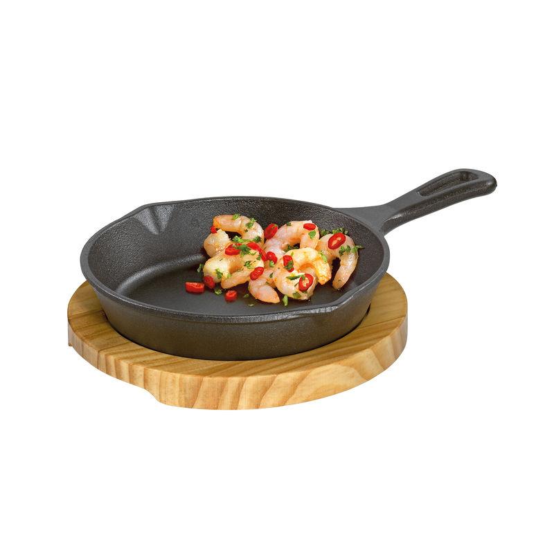 Küchenprofi - żeliwna patelnia do serwowania - wymiary: 26 x 18 x 6 cm