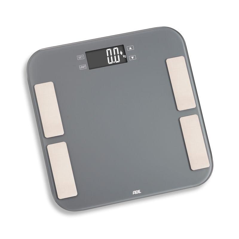 ADE - Malou - waga łazienkowa z analizą masy ciała - wymiary: 33 x 33 cm