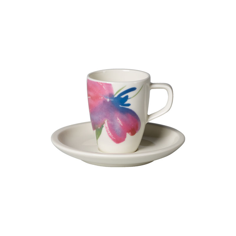 Villeroy & Boch - Artesano Flower Art - filiżanka do espresso ze spodkiem - pojemność: 0,1 l