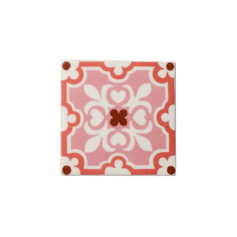 Villeroy & Boch - Rose Caro - 2 porcelanowe podkładki pod szklanki - wymiary: 11 x 11 cm