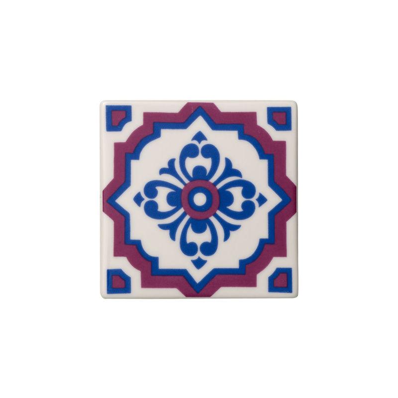 Villeroy & Boch - Indigo Caro - 2 porcelanowe podkładki pod szklanki - wymiary: 11 x 11 cm