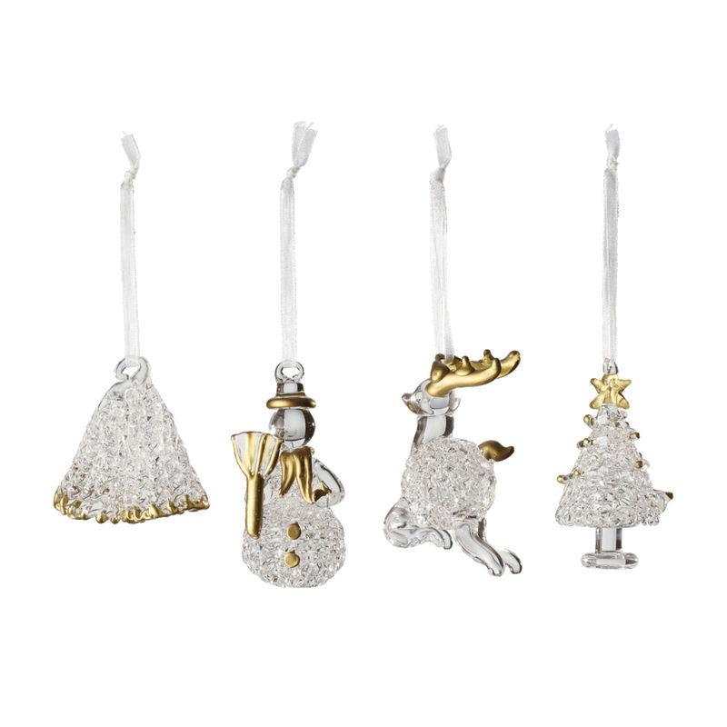 Villeroy & Boch - Toy's Delight Royal Classic Accessories - 4 szklane zawieszki - wysokość: 4 + 5 + 6 + 7 cm