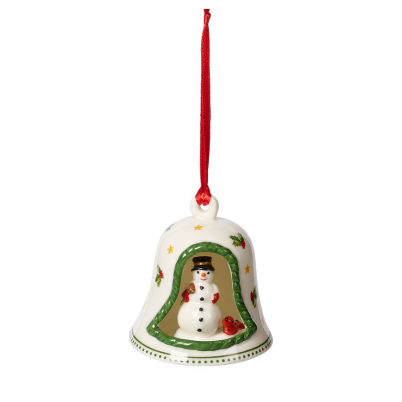 Villeroy & Boch - My Christmas Tree - zawieszka - dzwonek z bałwanem - wysokość: 7 cm