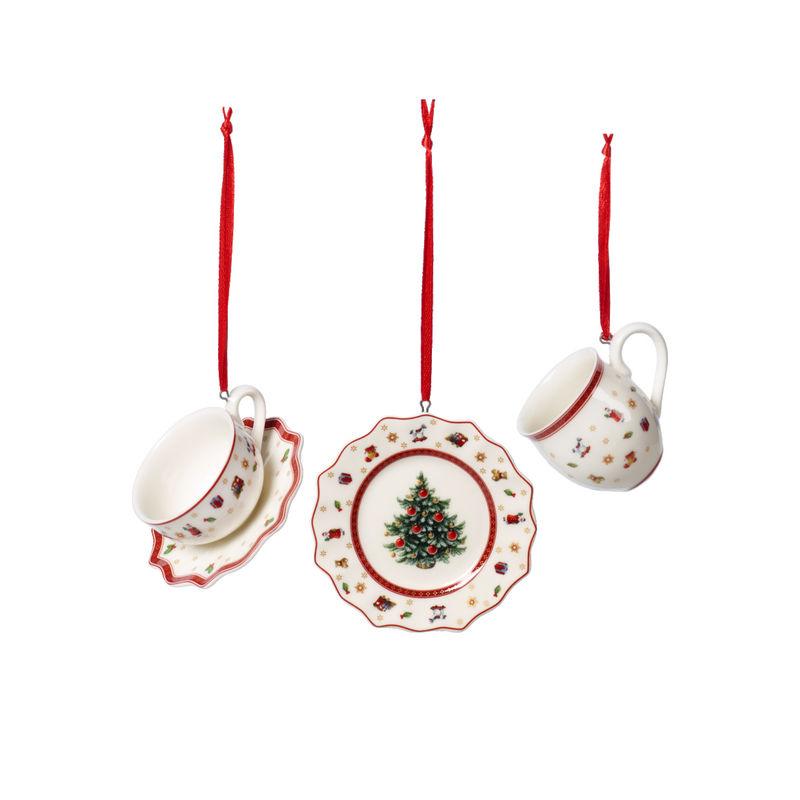 Villeroy & Boch - Toy's Delight Decoration - 3 zawieszki - zastawa stołowa - wysokość: 6 cm