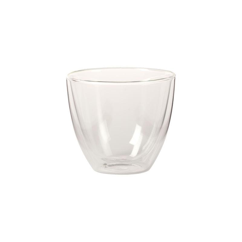 Villeroy & Boch - Manufacture Rock - szklanka do kawy z mlekiem - pojemność: 0,42 l; podwójne ścianki
