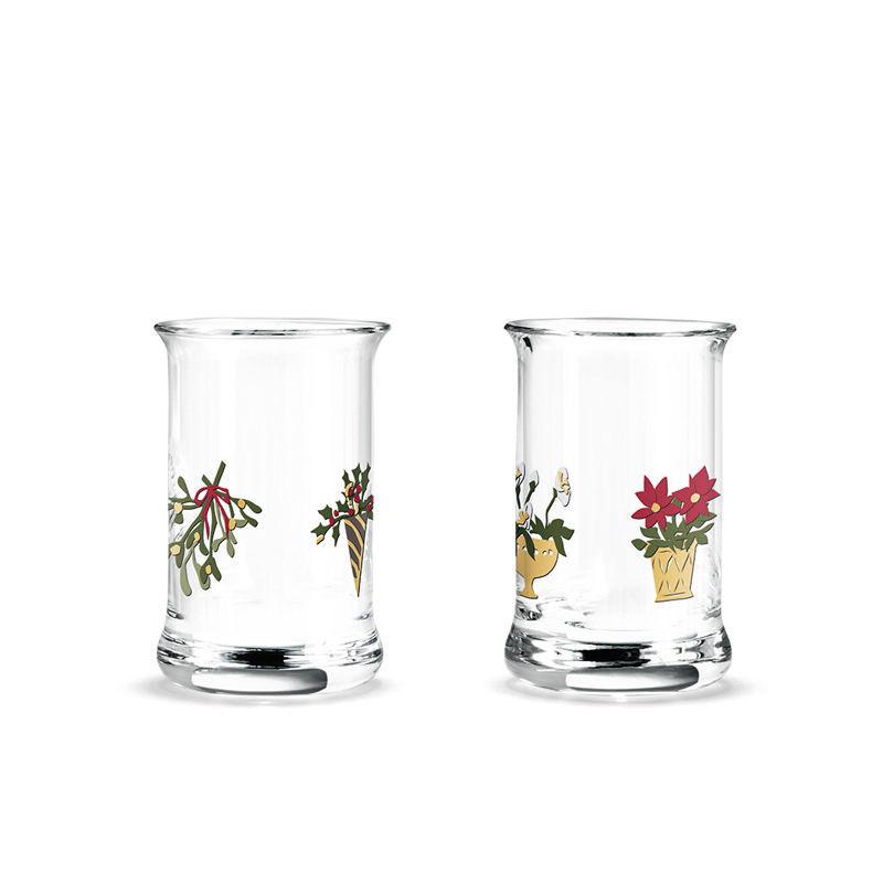 Holmegaard - Christmas - 2 kieliszki do wódki - pojemność: 0,03 l; tradycje świąteczne