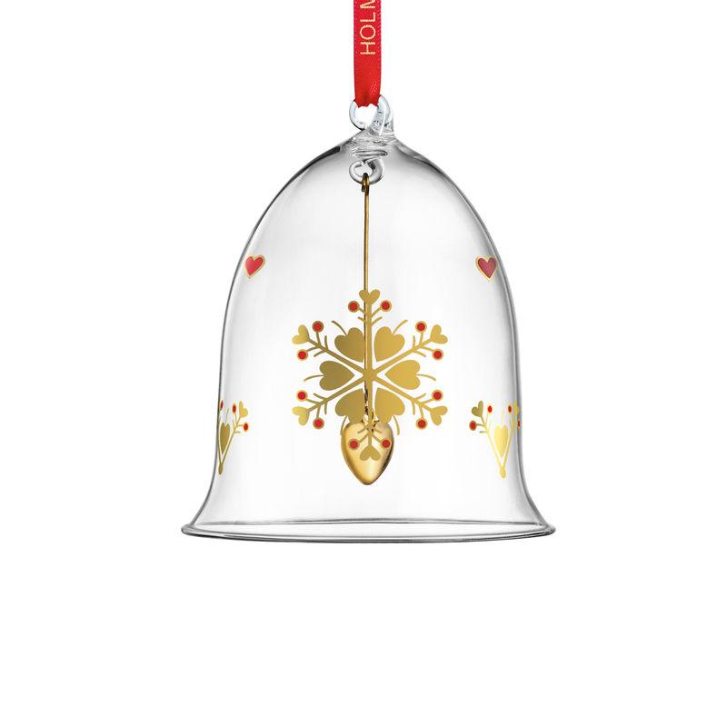 Holmegaard - Christmas - zawieszka dzwonek - wysokość: 10,5 cm; płatek śniegu