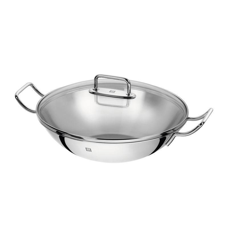 Zwilling - Zwilling Plus - wok z pokrywką - średnica: 32 cm