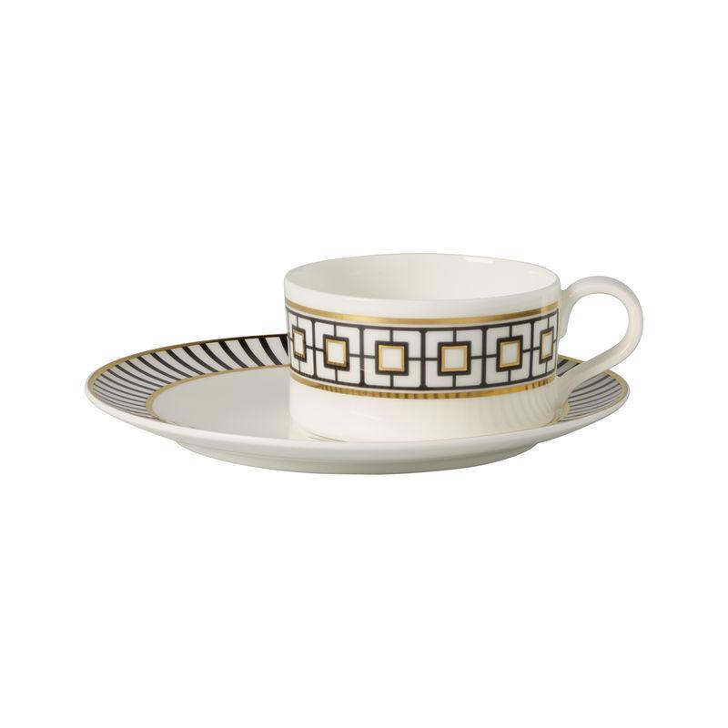 Villeroy & Boch - MetroChic - filiżanka do herbaty ze spodkiem - pojemność: 0,23 l