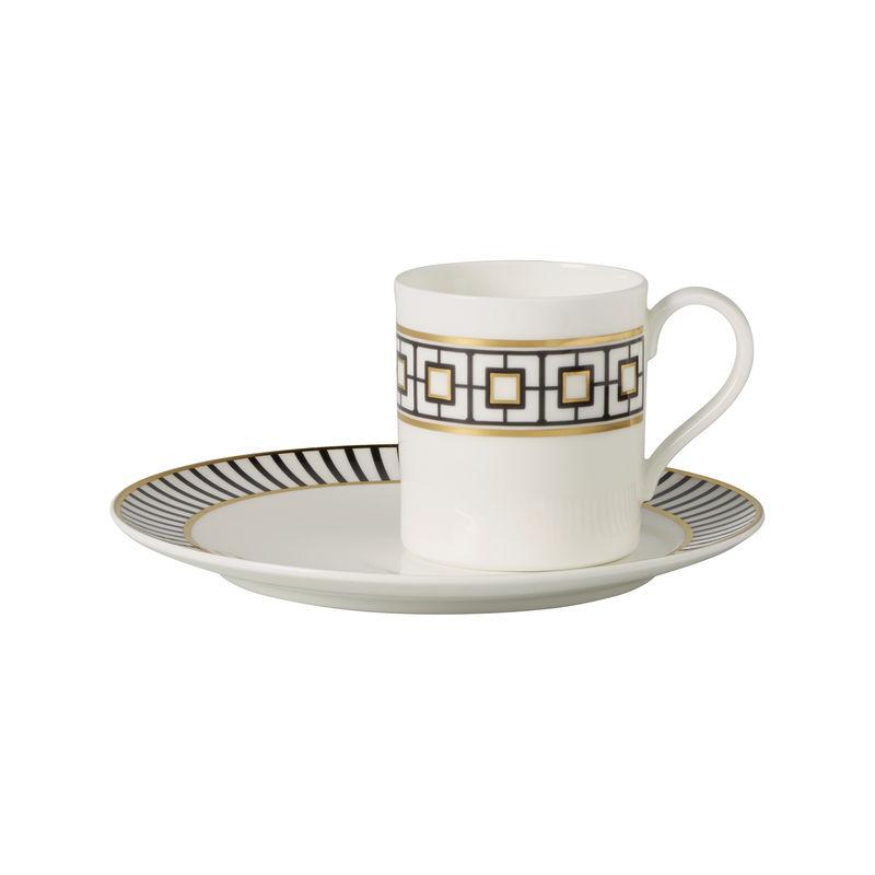Villeroy & Boch - MetroChic - filiżanka do kawy ze spodkiem - pojemność: 0,21 l